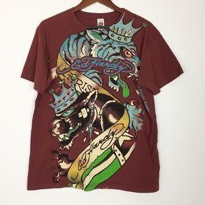 COPY - Ed Hardy   Mens XL Graphic Tshirt
